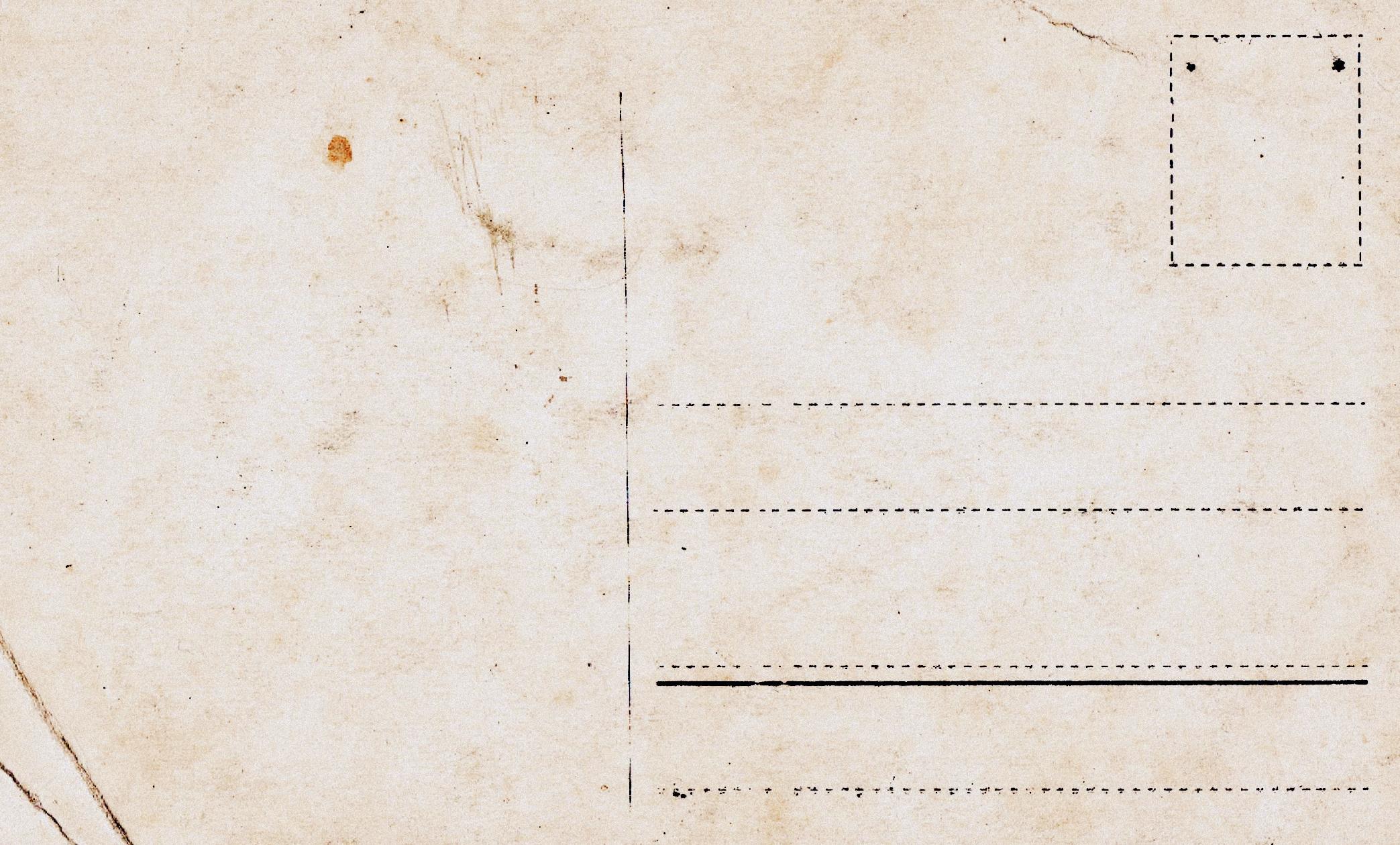 Alte Postkarten: Rückseite