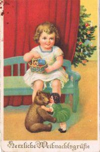 Alte Postkarten: Weihnachten 1925