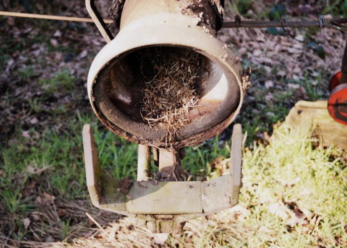 Pumprohr eines Gülleanhängers