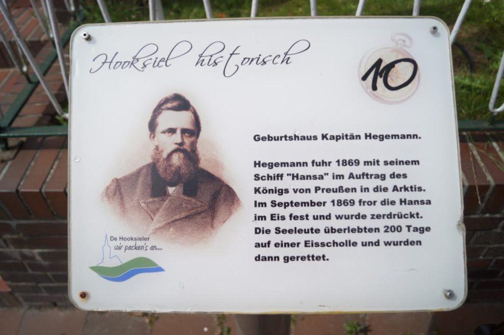 Geschichte Hooksiel: Kapitän Hegemann