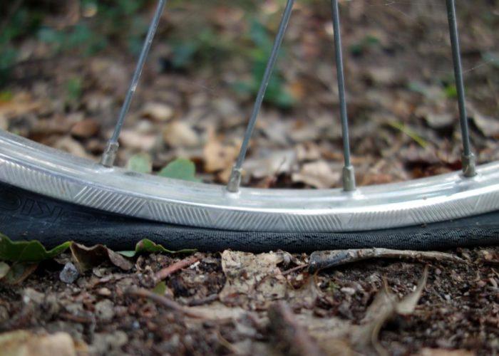 Dumm gelaufen: Reifenpanne