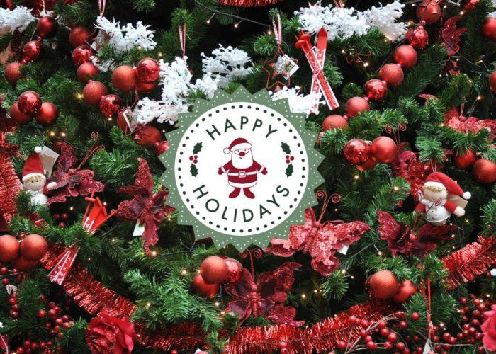 Frohe Weihnachten: Happy