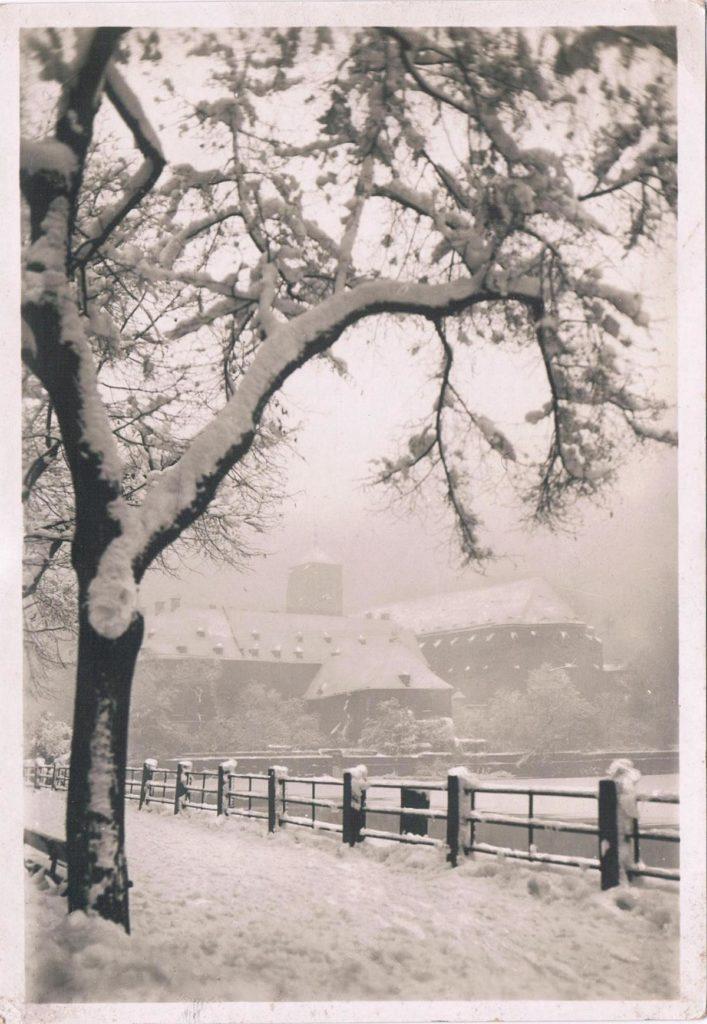Alte Weihnachtskarten: Schnee