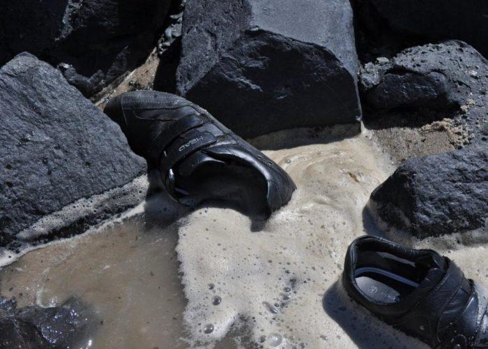 Dumm gelaufen: Nasse Schuhe