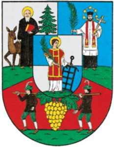 Personen auf Wappen: Die Heiligen und Winzer von Währing