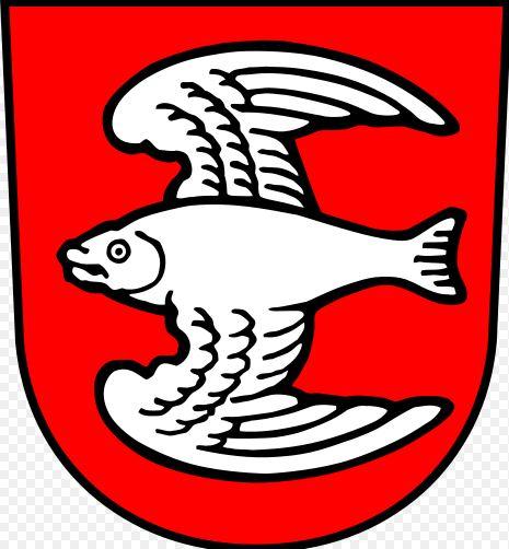 Datei Wappen Von Fischen Im Allgäu Svg: Die Fische Fliegen Tief