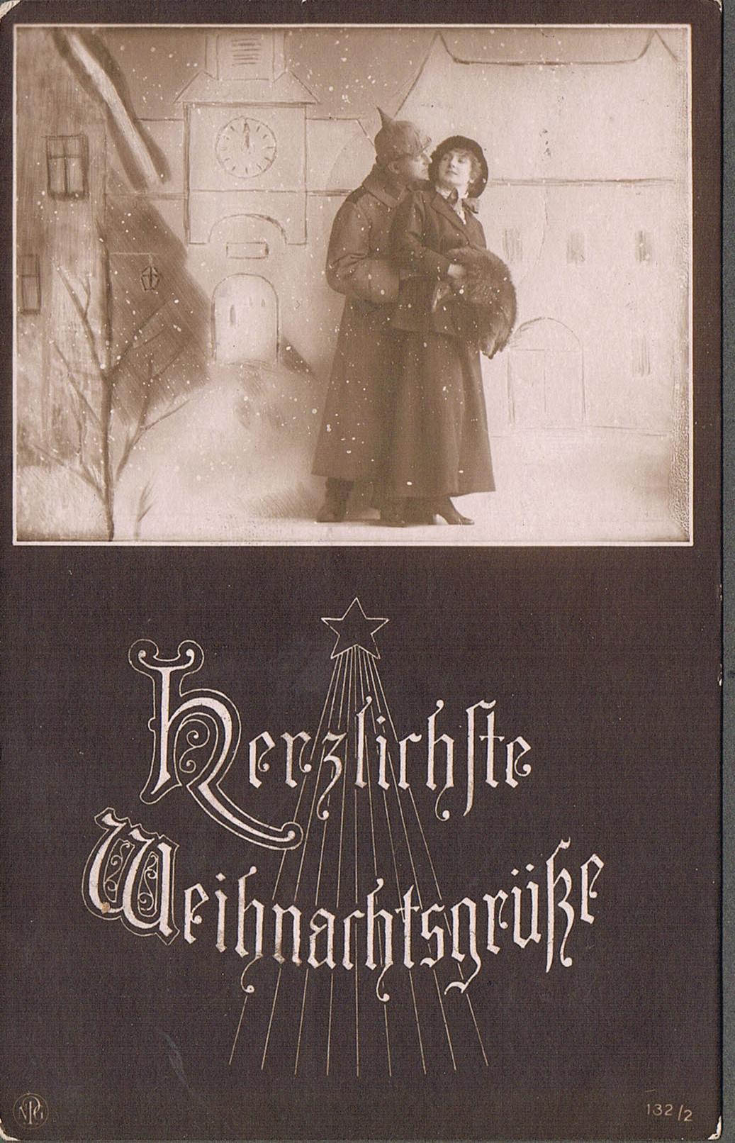 Alte Weihnachtskarten: Feldpost Erster Weltkrieg