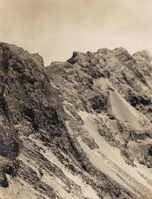 Zugspitze früher: Foto von 1929