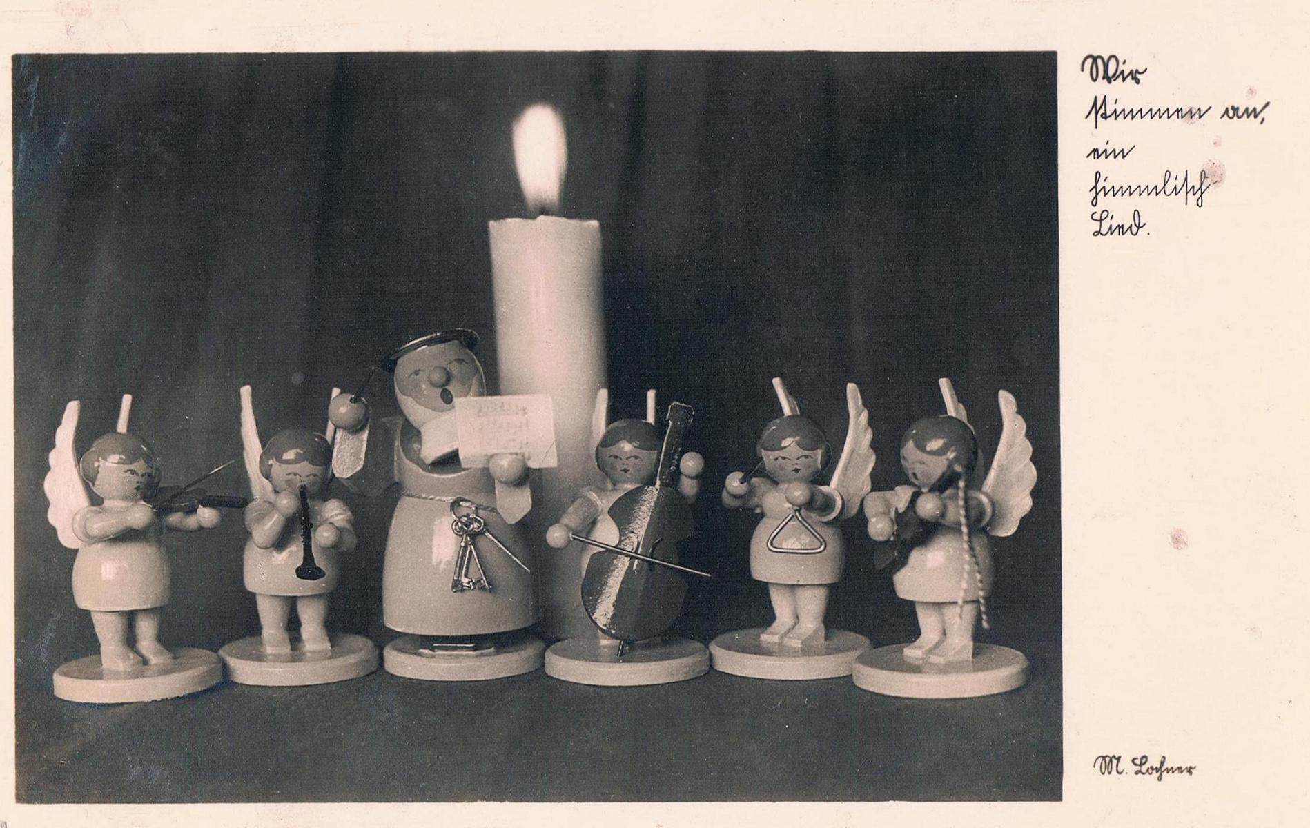 Alte Weohnachtskarten: Religiöses Motiv
