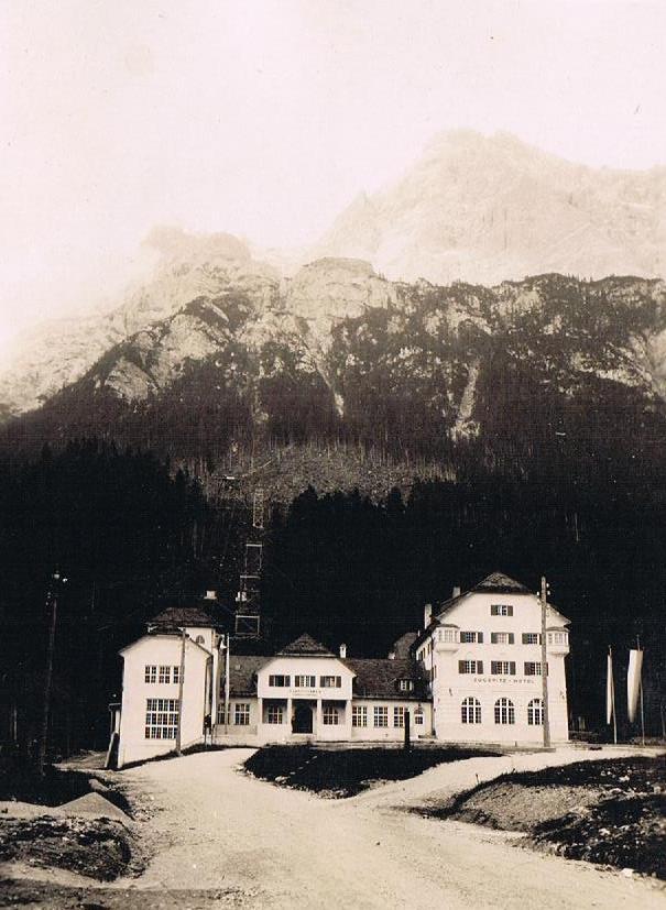 Zugspitze früher: Tiroler Zugspitzbahn (Ehrwald) 1929